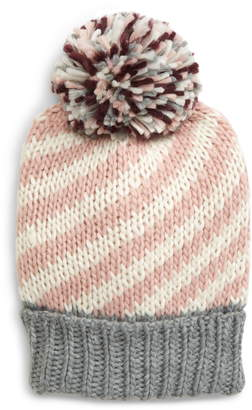BP Stripe Knit Pom Beanie