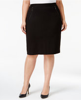 Kasper Plus Size Compression Pencil Skirt
