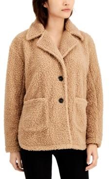 Coffee Shop CoffeeShop Juniors' Faux-Fur Teddy Coat