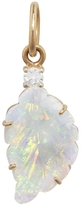 Irene Neuwirth Diamond and Carved Opal Leaf Charm