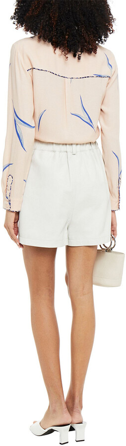 Thumbnail for your product : BA&SH Terry Printed Crepe De Chine Shirt