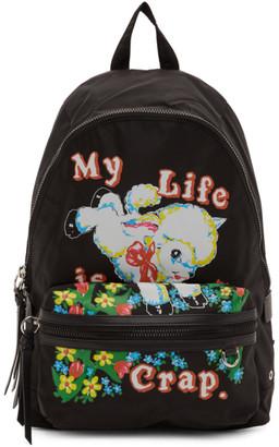 Marc Jacobs Black Magda Archer Edition Large Backpack