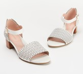 Taryn Rose Perforated Leather Heeled Sandals - Marina
