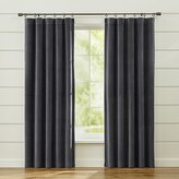 Crate & Barrel Windsor Dark Grey Curtains