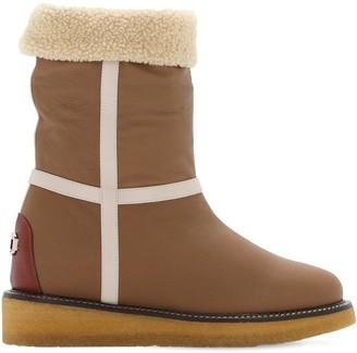 Salvatore Ferragamo 30mm Cinisi Leather Snow Boots