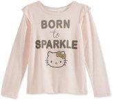 Hello Kitty Long-Sleeve Graphic-Print T-Shirt Toddler Girls (2T-5T) & Little Girls (2-6X)