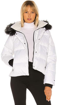 The North Face Dealio Down Crop Jacket With Faux Fur Trim