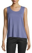 Eileen Fisher Scoop-Neck Silk Tank, Periwinkle, Petite