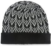 Sofia Cashmere Women's Fair Isle Hat, Black