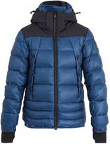 Moncler Valberg quilted-down technical hooded coat