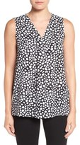 Chaus 'Spotted Markings' Print Sleeveless Blouse