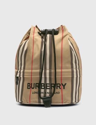 Burberry Icon Stripe ECONYL Drawcord Pouch