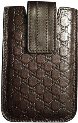 Gucci Brown Leather Accessories