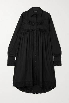 Simone Rocha Broderie Anglaise Cotton-poplin Midi Dress
