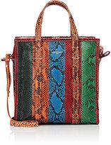 Balenciaga Women's Bazar Shopper Python Small Tote Bag-DARK GREEN