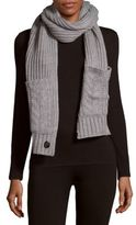 Vince Camuto Cable-Knit Pocket Scarf