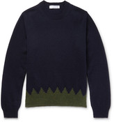 Comme des Garcons Two-Tone Wool Sweater