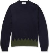 Comme Des Garçons Shirt - Two-tone Wool Sweater