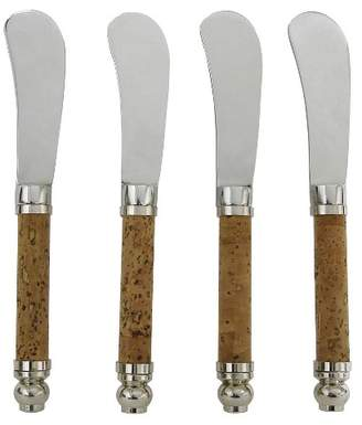 Vinotemp Epicureanist Cheese Spreaders with Cork Handles (Set of 4)