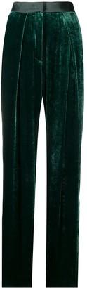 Emporio Armani High-Rise Velvet Cigarette Trousers