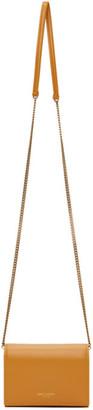 Saint Laurent Yellow Square Chain Wallet Bag