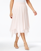 Style&Co. Style & Co Style & Co Petite Handkerchief-Hem A-Line Skirt, Created for Macy's