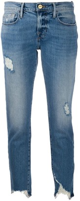 Frame Le Garcon cropped skinny jeans