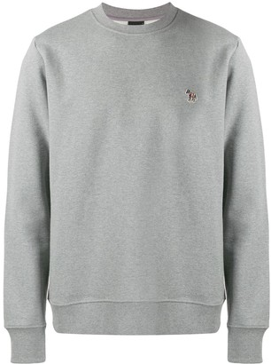 Paul Smith embroidered zebra logo sweatshirt