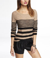 Express Striped Rolled Sleeve Tunic Sweater