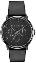 Ted Baker James Collection Multifunction Leather-Strap Watch