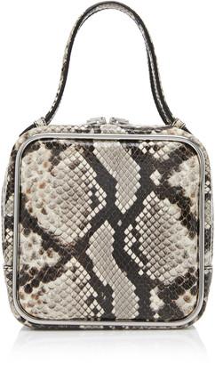 Alexander Wang Halo Snake-Effect Leather Top Handle Bag