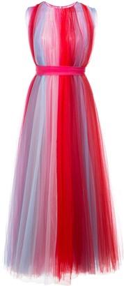 Carolina Herrera Striped Chiffon Dress