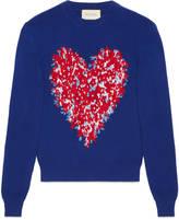 Gucci Corsage intarsia wool knit top