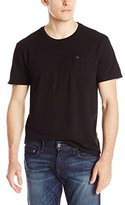 True Religion Men's S/Pocket Tee Crafted with Pride Pique, Ace with Jet Flocking