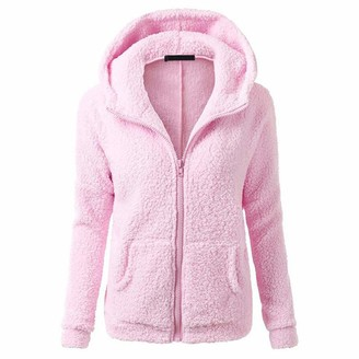 MENAB Women's Casual Loose Long Sleeve Winter Warm Fluffy Fleece Zip Oversize Top Hoodie Sweatshirt Pullover with Pockets Hoodies Color Block Long Sleeve Tunic Sweatshirt Drawstring Jumper Tops