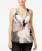 GUESS Abril Printed Pleated Top
