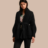 Burberry Knitted Wool Cashmere Belted Cardigan Jacket