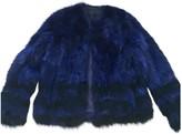 American Retro Blue Fox Jacket for Women