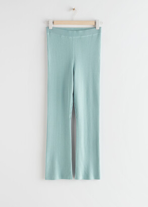 And other stories Fitted Ribbed Knit Trousers
