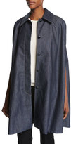 Vanessa Seward Anthologie Denim Cape, Blue