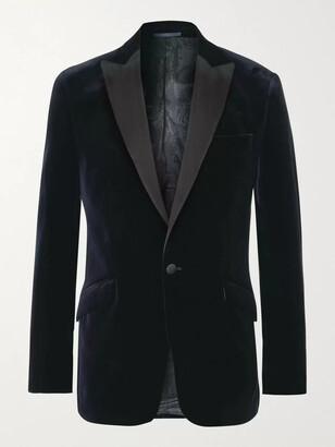 Favourbrook Fawn Slim-Fit Grosgrain-Trimmed Cotton-Velvet Tuxedo Jacket
