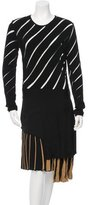 Fausto Puglisi Perforated Long-Sleeve Dress w/ Tags