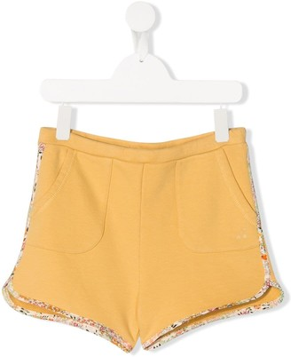 Bonpoint TEEN contrast trim shorts