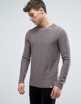 Jack and Jones Originals 100% Cotton Crew Neck Knitted Sweater in Mixed Yarn