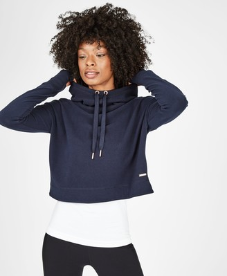 Sweaty Betty Escape Luxe Fleece Cropped Hoodie
