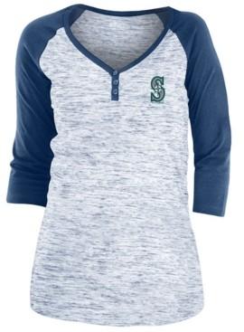 5th & Ocean Seattle Mariners Women's Space Dye Raglan Shirt