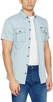 Blend of America Men's Short Sleeve Casual Shirt