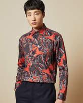 Ted Baker PARODOT Parrot print cotton shirt