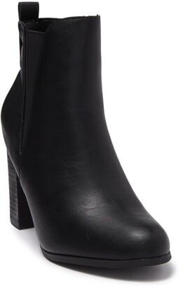 Chase & Chloe Coin Chunky Block Heel Boot