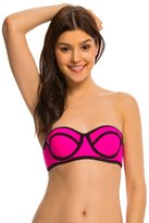 Hobie Tie Dye For Solid Underwire Bandeau Bikini Top 8140339